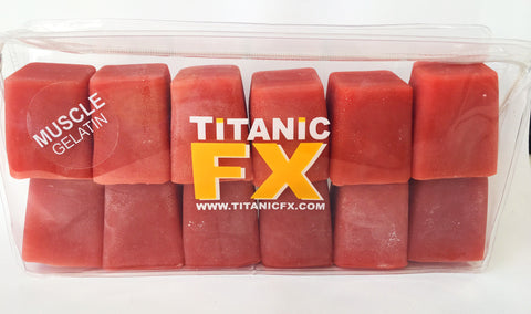 Titanic FX Prosthetic Gelatin - Muscle Colour (1KG), SFX Materials, Titanic FX, Titanic FX Store, Titanic FX Store, Prosthetic, Makeup, MUA, SFX, FX Makeup, Belfast, UK, Europe, Northern Ireland, NI