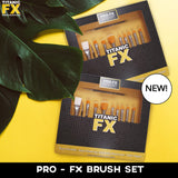 Titanic Pro-FX 11 Piece Brush Collection, Tools, Titanic FX, Titanic FX, Titanic FX Store, Prosthetic, Makeup, MUA, SFX, FX Makeup, Belfast, UK, Europe, Northern Ireland, NI