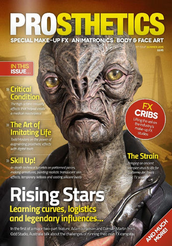 Prosthetics Magazine (Issue 1 Summer 2015), Magazine, Prosthetics Magazine, Titanic FX Store, Titanic FX Store, Prosthetic, Makeup, MUA, SFX, FX Makeup, Belfast, UK, Europe, Northern Ireland, NI