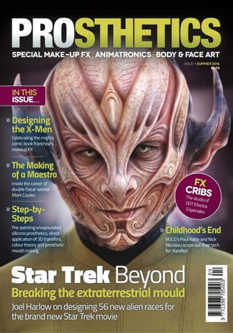 Prosthetics Magazine (Issue 4 Summer 2016), Magazine, Prosthetics Magazine, Titanic FX Store, Titanic FX Store, Prosthetic, Makeup, MUA, SFX, FX Makeup, Belfast, UK, Europe, Northern Ireland, NI