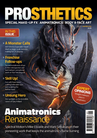 Prosthetics Magazine (Issue 5 Winter 2016), Magazine, Prosthetics Magazine, Titanic FX Store, Titanic FX Store, Prosthetic, Makeup, MUA, SFX, FX Makeup, Belfast, UK, Europe, Northern Ireland, NI