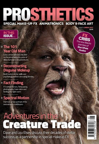 Prosthetics Magazine (Issue 6 Spring 2017), Magazine, Prosthetics Magazine, Titanic FX Store, Titanic FX Store, Prosthetic, Makeup, MUA, SFX, FX Makeup, Belfast, UK, Europe, Northern Ireland, NI