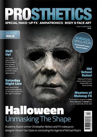 The Prosthetics Magazine (Issue 13 - Winter 2018), Magazine, Prosthetics Magazine, Titanic FX, Titanic FX Store, Prosthetic, Makeup, MUA, SFX, FX Makeup, Belfast, UK, Europe, Northern Ireland, NI
