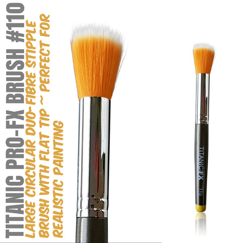 Titanic Pro-FX Brush 110 - Large Round Duo-Fibre Stipple Brush, Tools, Titanic FX, Titanic FX Store, Titanic FX Store, Prosthetic, Makeup, MUA, SFX, FX Makeup, Belfast, UK, Europe, Northern Ireland, NI