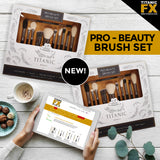 NEW: Titanic Pro-Beauty Brush 11-Piece Complete Brush Set, Tools, Titanic FX, Titanic FX, Titanic FX Store, Prosthetic, Makeup, MUA, SFX, FX Makeup, Belfast, UK, Europe, Northern Ireland, NI