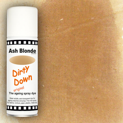 Dirty Down - Ash Blonde Ageing Spray - 400ml, Aging Spray, Dirty Down, Titanic FX, Titanic FX Store, Prosthetic, Makeup, MUA, SFX, FX Makeup, Belfast, UK, Europe, Northern Ireland, NI