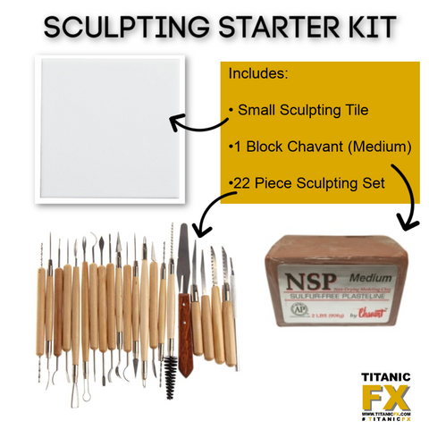 Sculpting Starter Kit, , Titanic FX, Titanic FX, Titanic FX Store, Prosthetic, Makeup, MUA, SFX, FX Makeup, Belfast, UK, Europe, Northern Ireland, NI