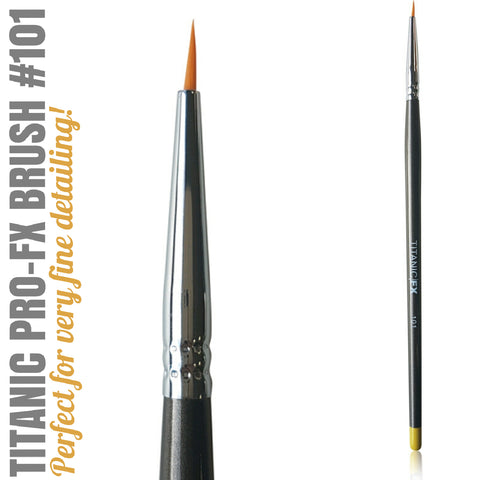 Titanic Pro-FX Brush 101 - Small Veining / Liner Brush