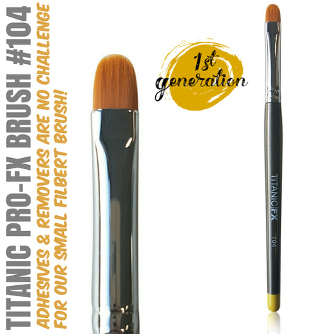 40% OFF - 1st Generation - Titanic Pro-FX Brush 104 - Small Filbert Brush, Tools, Titanic FX, Titanic FX, Titanic FX Store, Prosthetic, Makeup, MUA, SFX, FX Makeup, Belfast, UK, Europe, Northern Ireland, NI