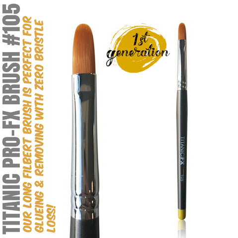 40% OFF - 1st Generation - Titanic Pro-FX Brush 105 - Long Filbert Brush, Tools, Titanic FX, Titanic FX, Titanic FX Store, Prosthetic, Makeup, MUA, SFX, FX Makeup, Belfast, UK, Europe, Northern Ireland, NI