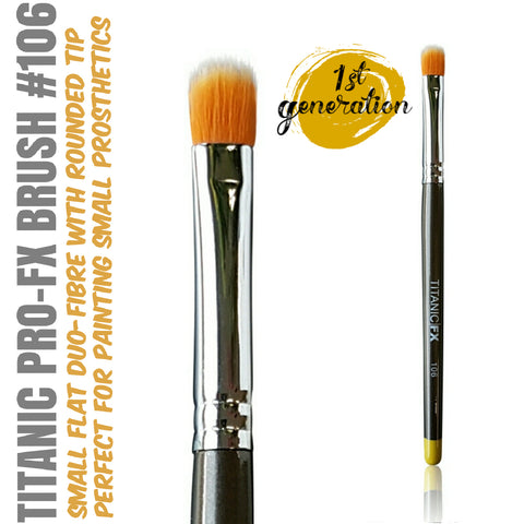 40% OFF - 1st Generation Titanic Pro-FX Brush 106 - Small Flat Duo-Fibre Stipple Brush