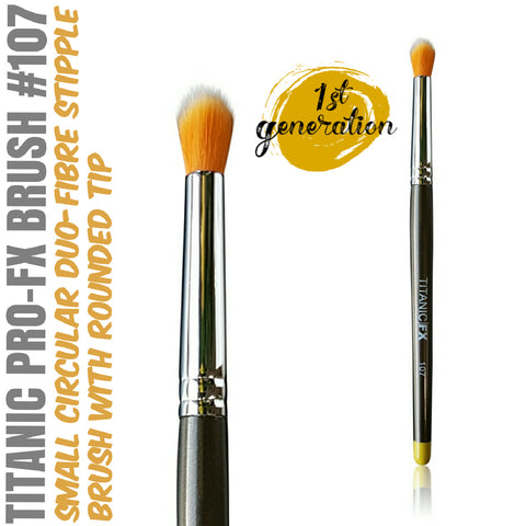 40% OFF - 1st Generation Titanic Pro-FX Brush 107 - Small Round Duo-Fibre Stipple Brush, Tools, Titanic FX, Titanic FX, Titanic FX Store, Prosthetic, Makeup, MUA, SFX, FX Makeup, Belfast, UK, Europe, Northern Ireland, NI