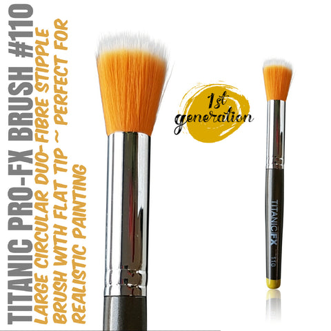 40% OFF - 1st Generation - Titanic Pro-FX Brush 110 - Large Round Duo-Fibre Stipple Brush, Tools, Titanic FX, Titanic FX, Titanic FX Store, Prosthetic, Makeup, MUA, SFX, FX Makeup, Belfast, UK, Europe, Northern Ireland, NI