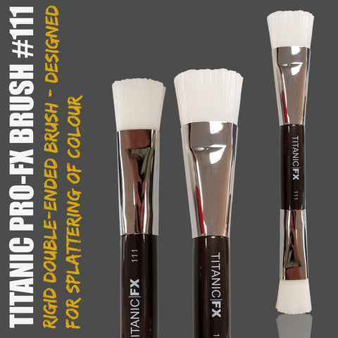 Titanic Pro-FX Brush 111 - Double-ended Splatter Brush, Tools, Titanic FX, Titanic FX, Titanic FX Store, Prosthetic, Makeup, MUA, SFX, FX Makeup, Belfast, UK, Europe, Northern Ireland, NI