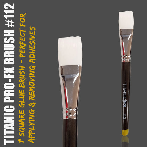 "NEW: Titanic Pro-FX Brush 112 - 1"" Square Adhesive / Remover Brush, Tools, Titanic FX, Titanic FX Store, Titanic FX Store, Prosthetic, Makeup, MUA, SFX, FX Makeup, Belfast, UK, Europe, Northern Ireland, NI"