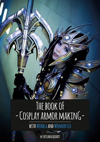 The Book of Cosplay Armor Making – Worbla & Wonderflex by Kamui Cosplay, Books, Kamui Cosplay, Titanic FX Store, Titanic FX Store, Prosthetic, Makeup, MUA, SFX, FX Makeup, Belfast, UK, Europe, Northern Ireland, NI