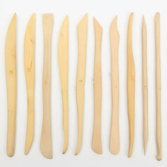 10 Piece Wooden Sculpting Tool Set