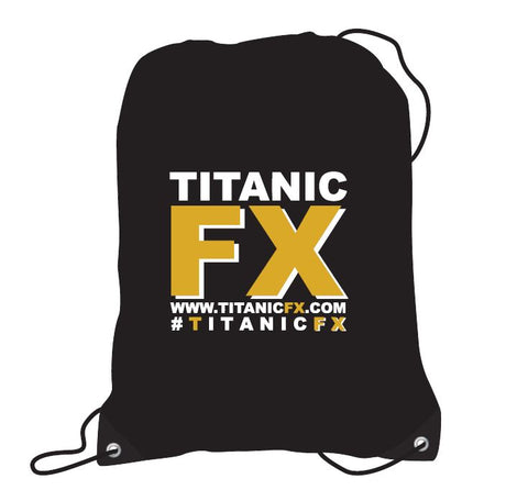 Titanic FX Branded Apparel - Drawstring Backpack, Apparel, Titanic FX, Titanic FX, Titanic FX Store, Prosthetic, Makeup, MUA, SFX, FX Makeup, Belfast, UK, Europe, Northern Ireland, NI
