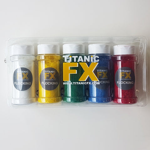 Titanic FX Flocking Variety Pack, Prosthetic Makeup, Titanic FX, Titanic FX, Titanic FX Store, Prosthetic, Makeup, MUA, SFX, FX Makeup, Belfast, UK, Europe, Northern Ireland, NI