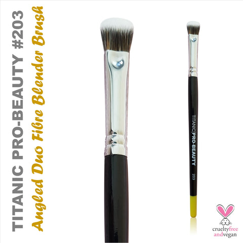 NEW: Titanic Pro-Beauty Brush (203) - Angled Duo-Fibre Blender