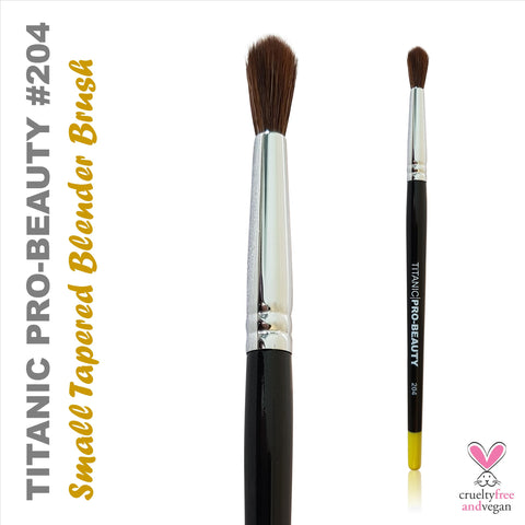 NEW: Titanic Pro-Beauty Brush (204) - Small Tapered Blender Brush