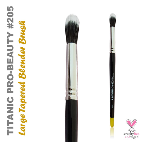 Titanic Pro-Beauty Brush (205) - Large Duo-Fibre Tapered Blender