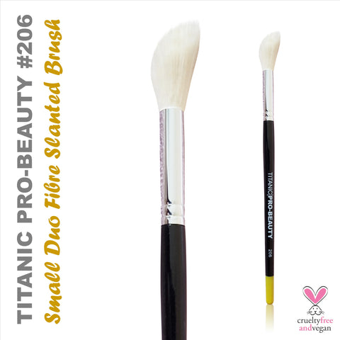 Titanic Pro-Beauty Brush (206) - Small Duo-Fibre Slanted Blender, Tools, Titanic FX, Titanic FX, Titanic FX Store, Prosthetic, Makeup, MUA, SFX, FX Makeup, Belfast, UK, Europe, Northern Ireland, NI