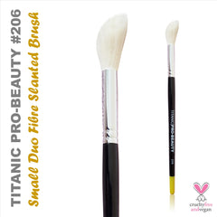 NEW: Titanic Pro-Beauty Brush (206) - Small Duo-Fibre Slanted Blender (Pre-Order for 17th May)