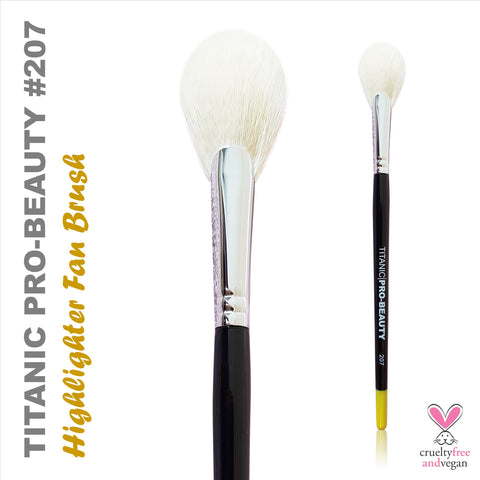 Titanic Pro-Beauty Brush (207) - Highlighter Fan, Tools, Titanic FX, Titanic FX, Titanic FX Store, Prosthetic, Makeup, MUA, SFX, FX Makeup, Belfast, UK, Europe, Northern Ireland, NI