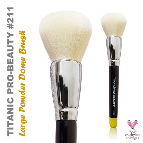 NEW: Titanic Pro-Beauty Brush (211) - Large Powder Dome