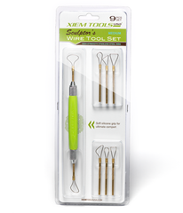 Xiem Tools - Interchangeable Sculptor's 'Medium' Wire Tool Set (9 piece)