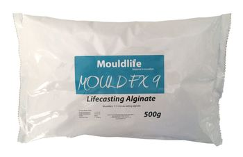 Mouldlife Lifecasting Alginate FX9 (7-9 Minute Set) - 500g, Lifecasting, Mouldlife, Titanic FX Store, Titanic FX Store, Prosthetic, Makeup, MUA, SFX, FX Makeup, Belfast, UK, Europe, Northern Ireland, NI