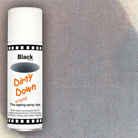 Dirty Down - Black Ageing Spray - 400ml, Ageing Spray, Dirty Down, Titanic FX, Titanic FX Store, Prosthetic, Makeup, MUA, SFX, FX Makeup, Belfast, UK, Europe, Northern Ireland, NI