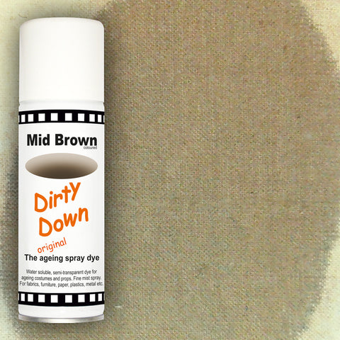 Dirty Down - Mid Brown Ageing Spray - 400ml, Ageing Spray, Dirty Down, Titanic FX, Titanic FX Store, Prosthetic, Makeup, MUA, SFX, FX Makeup, Belfast, UK, Europe, Northern Ireland, NI