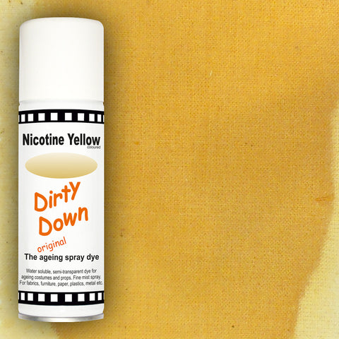 Dirty Down - Nicotine Yellow Ageing Spray - 400ml, Ageing Spray, Dirty Down, Titanic FX, Titanic FX Store, Prosthetic, Makeup, MUA, SFX, FX Makeup, Belfast, UK, Europe, Northern Ireland, NI