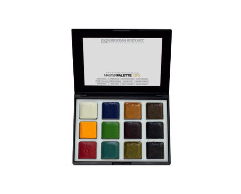 European Body Art - Encore SFX Master Palette - Alcohol Activated, Paints, European Body Art, Titanic FX, Titanic FX Store, Prosthetic, Makeup, MUA, SFX, FX Makeup, Belfast, UK, Europe, Northern Ireland, NI