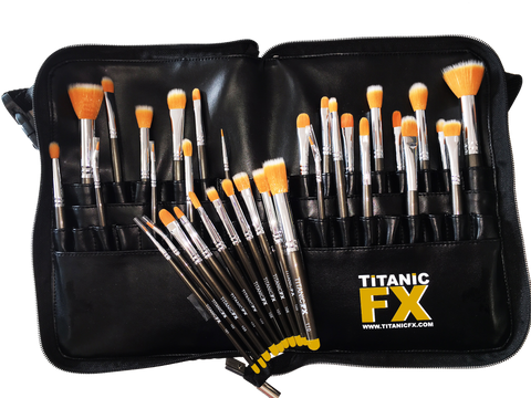Titanic FX Zip-Up Pro Brush Belt, Bags, Belts and Accessories, Titanic FX, Titanic FX, Titanic FX Store, Prosthetic, Makeup, MUA, SFX, FX Makeup, Belfast, UK, Europe, Northern Ireland, NI