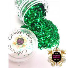 'Emerald Green' Chunky Glitter - The Facepainting Shop