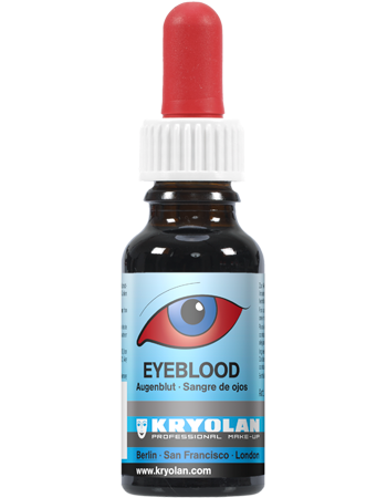 Kryolan Eye Blood (Red) 20ml, Blood, Kryolan, Titanic FX, Titanic FX Store, Prosthetic, Makeup, MUA, SFX, FX Makeup, Belfast, UK, Europe, Northern Ireland, NI
