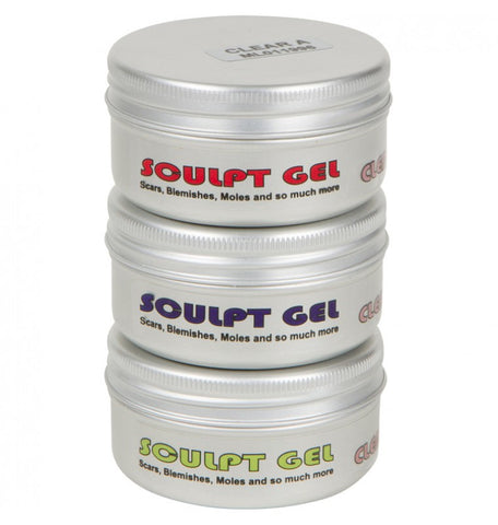 Sculpt Gel 3 x 50ml (Available in Clear or Flesh tone), SFX Materials, Mouldlife, Titanic FX Store, Titanic FX Store, Prosthetic, Makeup, MUA, SFX, FX Makeup, Belfast, UK, Europe, Northern Ireland, NI
