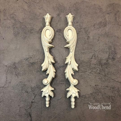 WoodUBend | Pair of Decorative Drop Scrolls ( 1304 ) | 23.5cm x 3.5cm