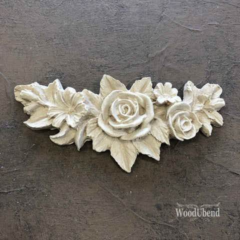 WoodUBend | Decorative Flower Garland ( 0348 ) | 11.5cm x 5.5cm
