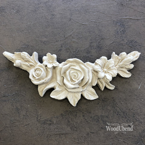 WoodUBend | Decorative Flower Garland Moulding ( 0349 ) | 15.7cm x 3.2cm