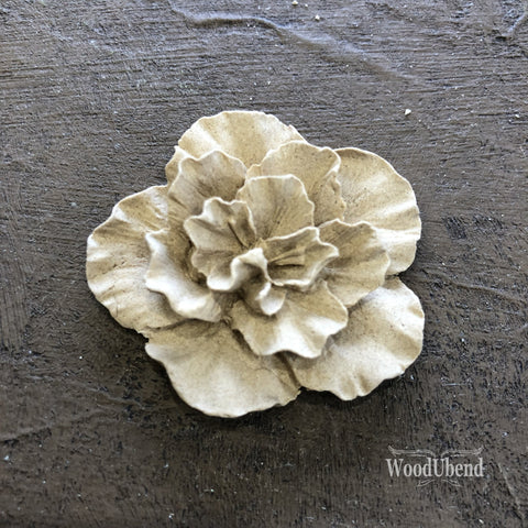 WoodUBend | Soft Petaled Flower Moulding ( 1118 ) | 4cm x 4cm