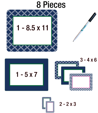 peel and stick reusable adhesive photo frames and dry erase boards for college dorm room decorating