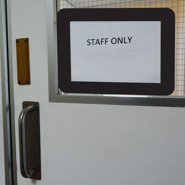 Staff Only hospital and medical facility sign on door peel and stick reusable adhesive sign display