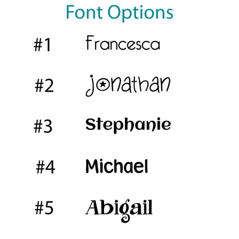 font options for personalized children's holiday placemat craft project