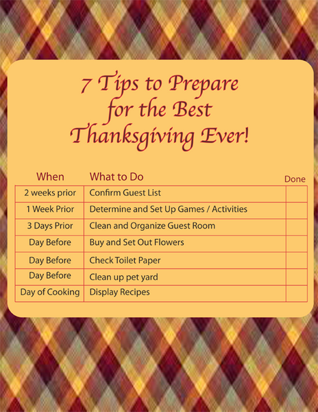 Thanksgiving printable checklist for non magnetic stainless steel refrigerator magnet