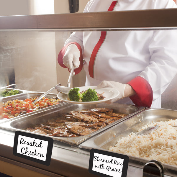 self stick reusable adhesive labels for cafeteria food