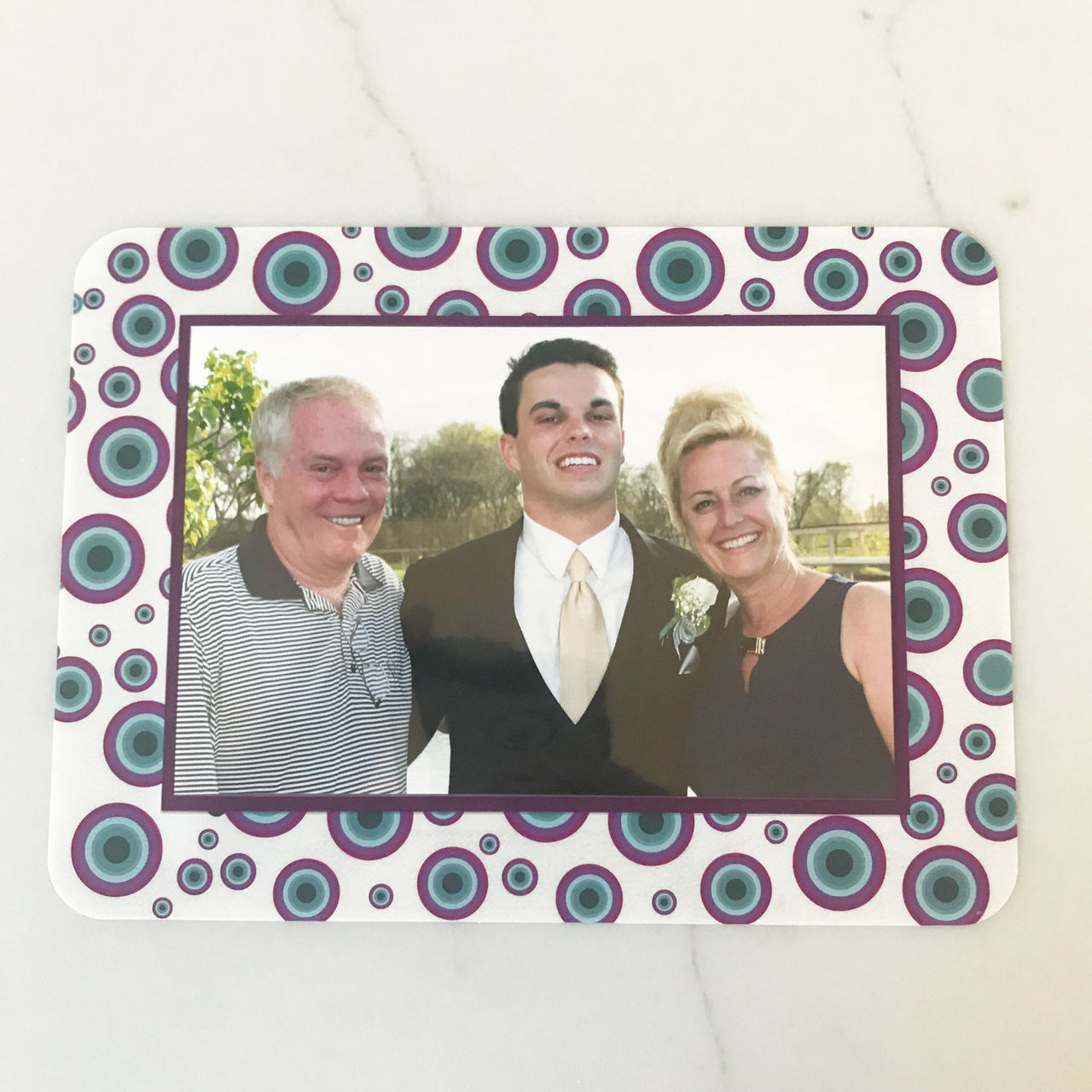Agate Dot Aqua/Lavender Combo Self-Stick Picture Frames Collection